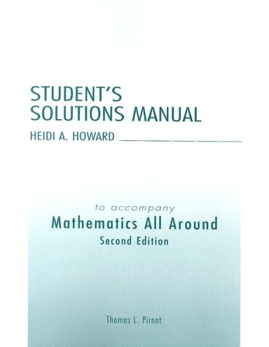 9780321109040: Student Solutions Manual for Mathematics All Around