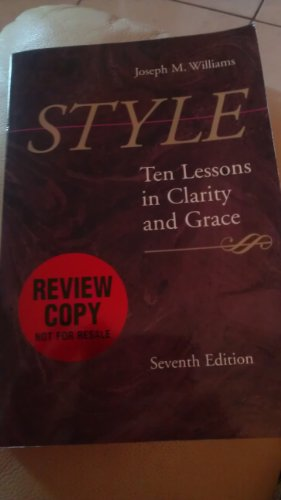9780321109156: Joseph m Williams [Paperback] by Style Edition: first
