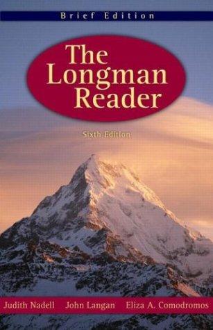9780321112958: The Longman Reader, Brief 6th Edition