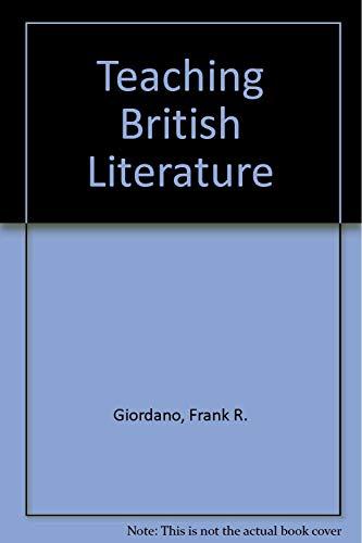 9780321115843: Teaching British Literature