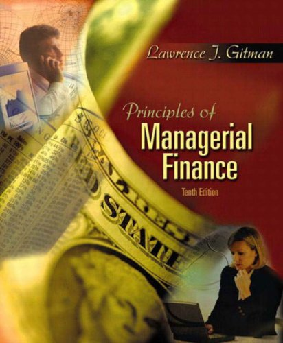 9780321116383: Principles of Managerial Finance (International Edition)