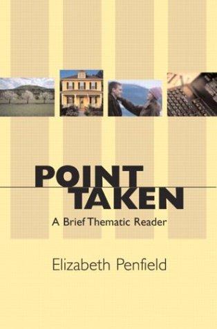 9780321117403: Point Taken: A Brief Thematic Reader