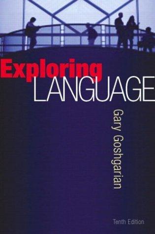 9780321122216: Exploring Language, 10th Edition