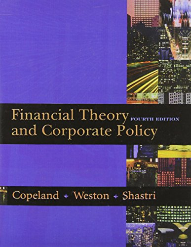 9780321127211: Financial Theory and Corporate Policy (4th Edition)