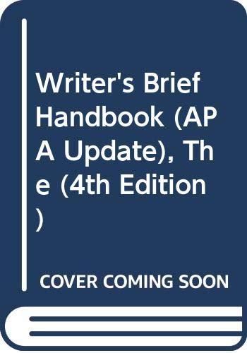 9780321127334: The Writer's Brief Handbook, APA update (4th Edition)