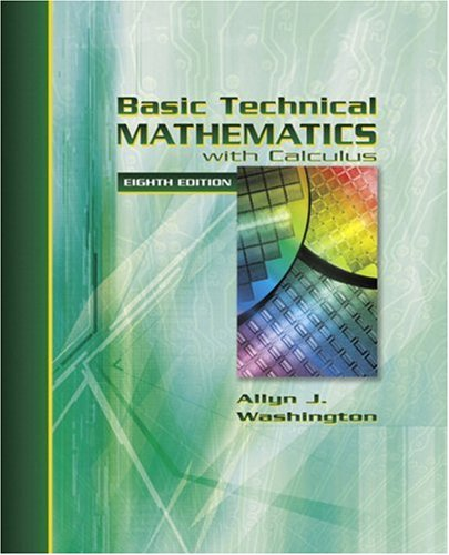 Basic Technical Mathematics with Calculusn 8th Edition