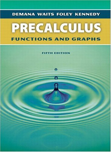 9780321131966: Precalculus: Functions and Graphs, Fifth Edition