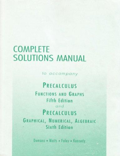 9780321132062: Precalculus Ism Sup