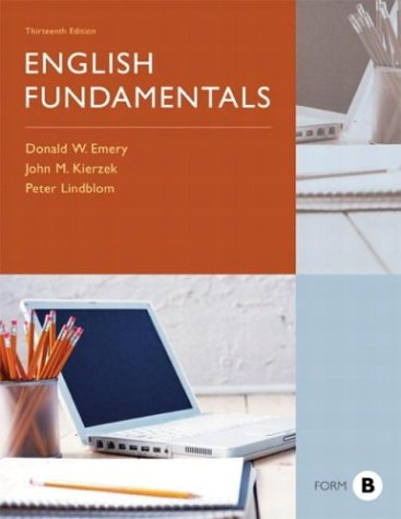 9780321136671: English Fundamentals, Form B (13th Edition)