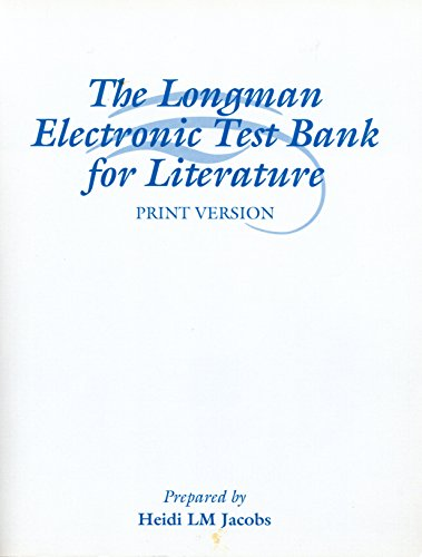 9780321143129: The Longman Electronic Test Bank for Literature (Print Version)