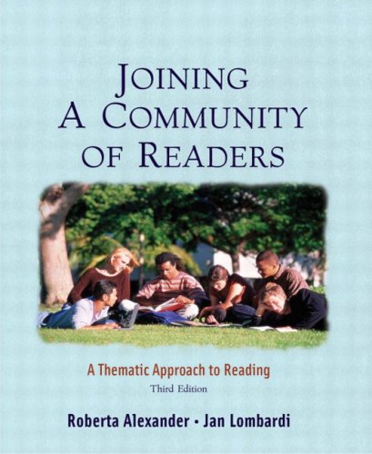 9780321145987: Joining a Community of Readers: A Thematic Approach to Reading (3rd Edition)