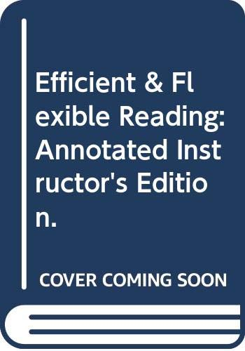 9780321146090: Efficient & Flexible Reading: Annotated Instructor's Edition.