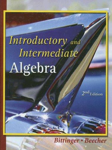 9780321155191: Introductory and Intermediate Algebra
