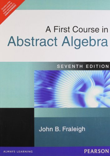 9780321156082: A First Course in Abstract Algebra (International Edition)