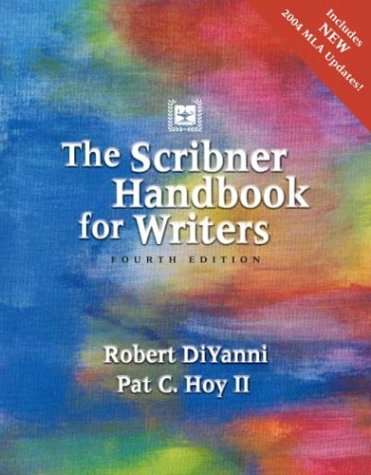9780321163899: Scribner Handbook for Writers, The (4th Edition)