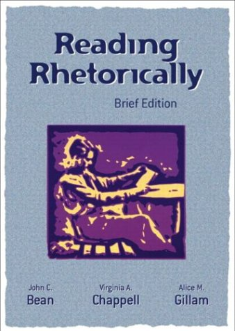 9780321165244: Reading Rhetorically, Brief Edition