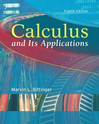 9780321166395: Calculus and Its Applications (8th Edition)