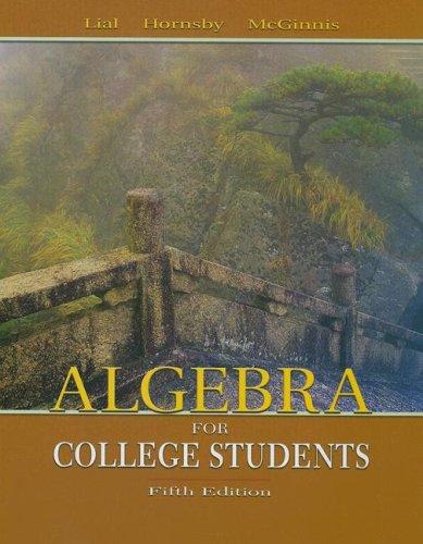9780321168290: Algebra for College Students plus MyMathLab Student Starter Kit (5th Edition)
