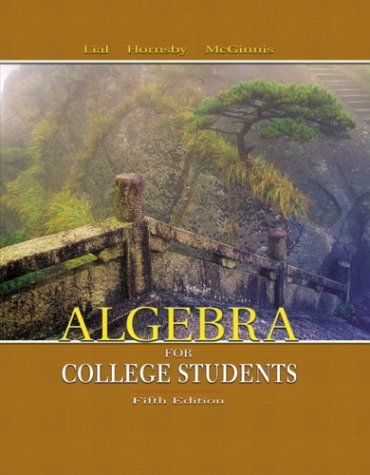9780321168306: Algebra for College Students (5th Edition) (MathXL Tutorials on CD Series)