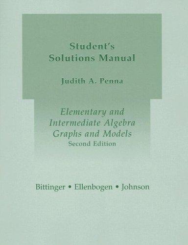 9780321168658: Elementary and Intermediate Algebra: Graphs and Models