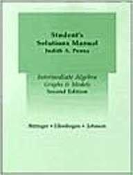 Intermediate Algebra: Graphs & Models: Marvin L. Bittinger,