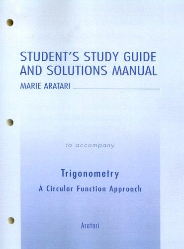 Student Study Guide and Solutions Manual for: Aratari, Marie