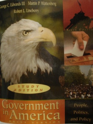 9780321172662: Government in America Brief Version Sixth Study Edition