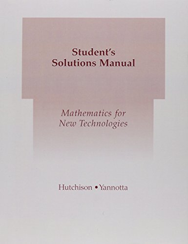 9780321173331: Student Solutions Manual for Mathematics for New Technologies