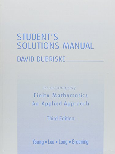 9780321173386: Student Solutions Manual for Finite Mathematics: An Applied Approach
