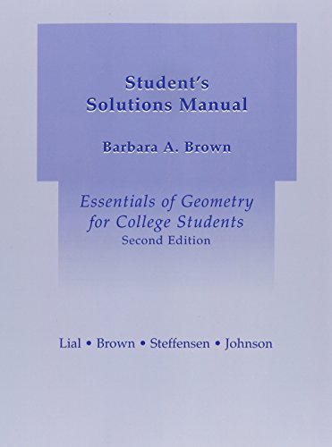 9780321173539: Student Solutions Manual for Essentials of Geometry for College Students