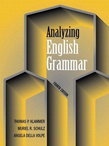 9780321182715: Analyzing English Grammar