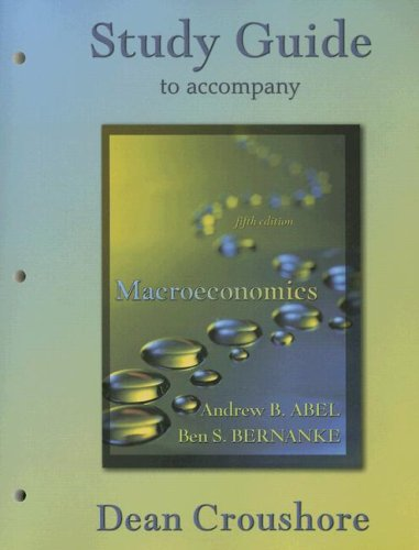 9780321185624: Study Guide to accompany Macroeconomics, 5th Edition