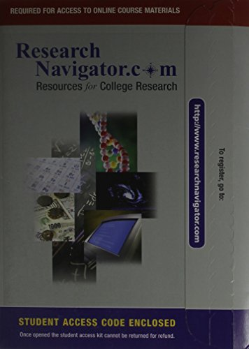 9780321186072: Research Navigator¿: Resources for College Research