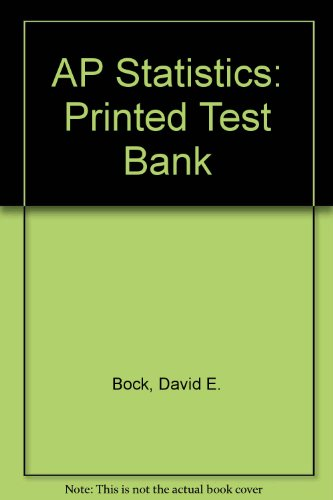 9780321186270: AP Statistics: Printed Test Bank
