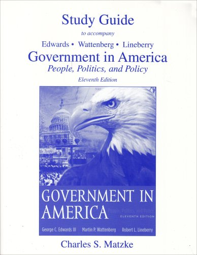 9780321188243: Government in America: People, Politics and Policy Study Guide