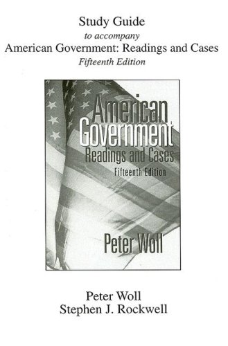 9780321188311: American Government: Readings and Cases (Study Guide)