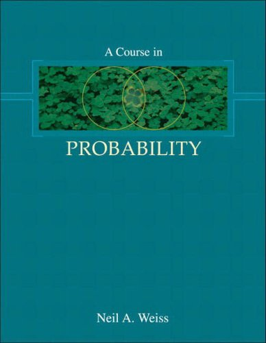 9780321189547: A Course in Probability