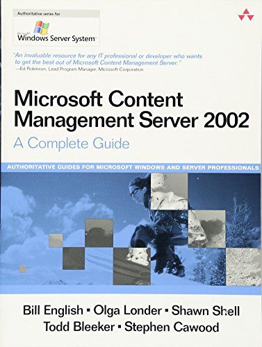 9780321194442: Microsoft Content Management Server 2002: A Complete Guide
