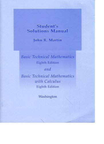 9780321197399: Instructor's Solutions Manual for Basic Technical Mathematics and Basic Technical Mathematics with Calculus