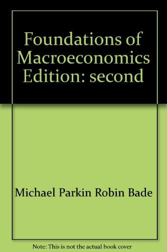9780321197719: Foundations of Macroeconomics