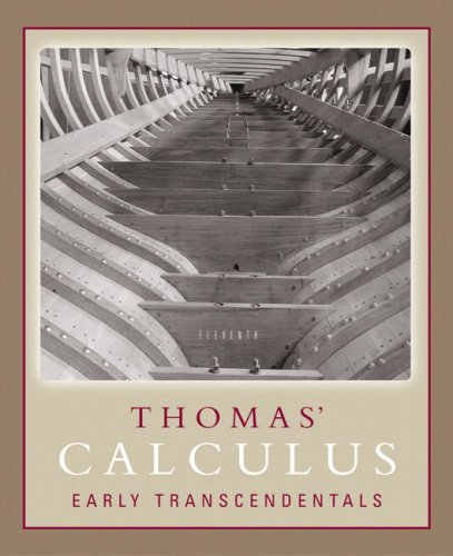 9780321198006 Thomas Calculus Early Transcendentals 11th