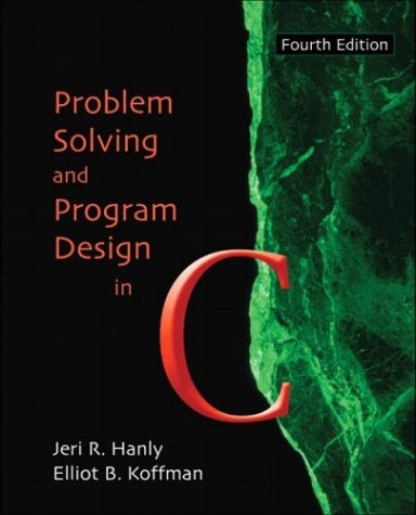 9780321198037: Problem Solving and Program Design in C, Fourth Edition
