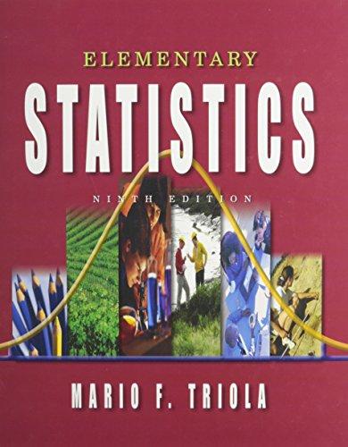 Elementary Statistics: High School Edition: Mario F. Triola