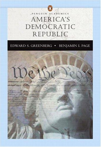 9780321198211: America's Democratic Republic (Penguin Academics Series)