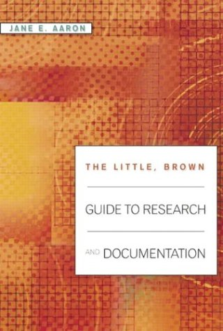 9780321198235: The Little, Brown Guide to Research and Documentation