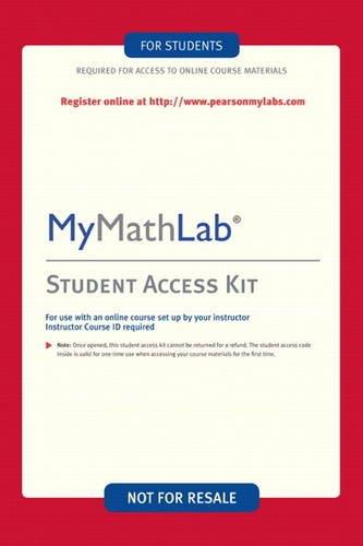 9780321199904: MyMathLab: Student Access Kit
