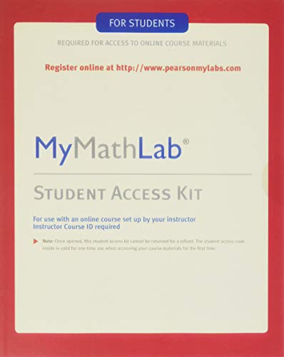 MyMathLab: Student Access Kit: Pearson Education, Hall