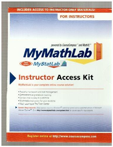 9780321199928: MyMathLab Instructor Access Kit