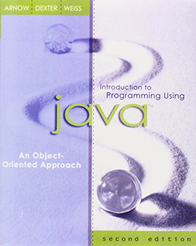 9780321200068: Introduction to Programming Using Java: An Object-Oriented Approach (2nd Edition)