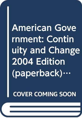 9780321202192: Amer Govt: Cont&Chng 04 Ppr W/